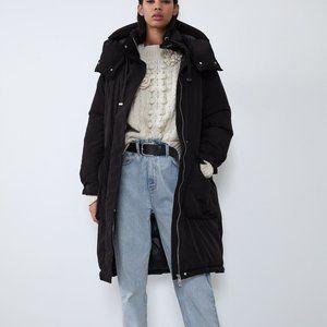 Zara SORONA ® DUPONT™ PUFFER COAT-black-4341/275